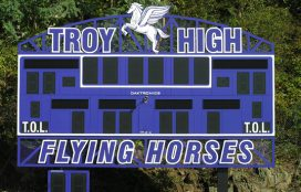 McBain Electric - Troy High Scoreboard