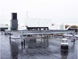 Clune Electric - Commerce Hub - Roof Mounted Generator